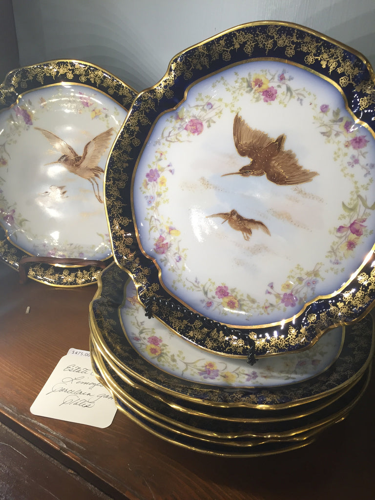 Estate Collection China - Plates Porcelain Game by Limoges