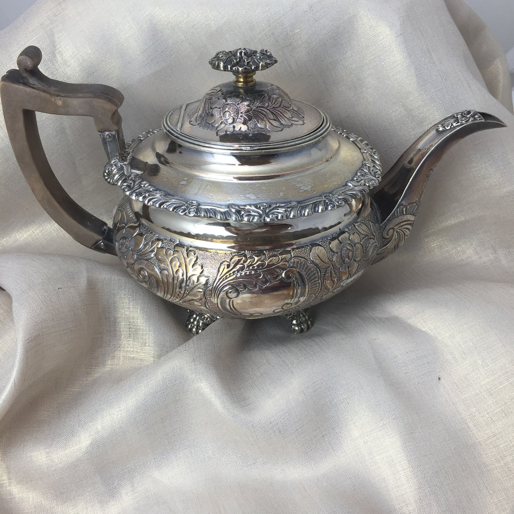 Antique Silverplate George III Teapot