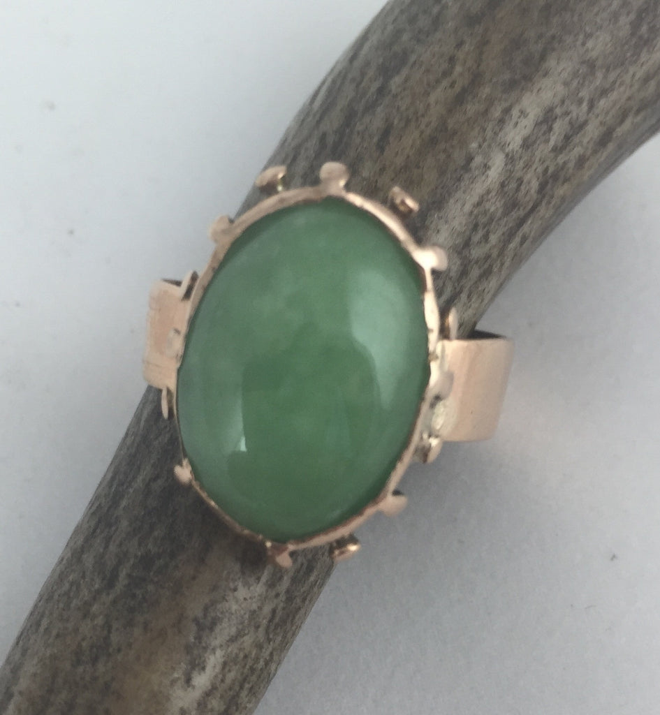 Estate Collection Gold & Jade Ring - 1800's
