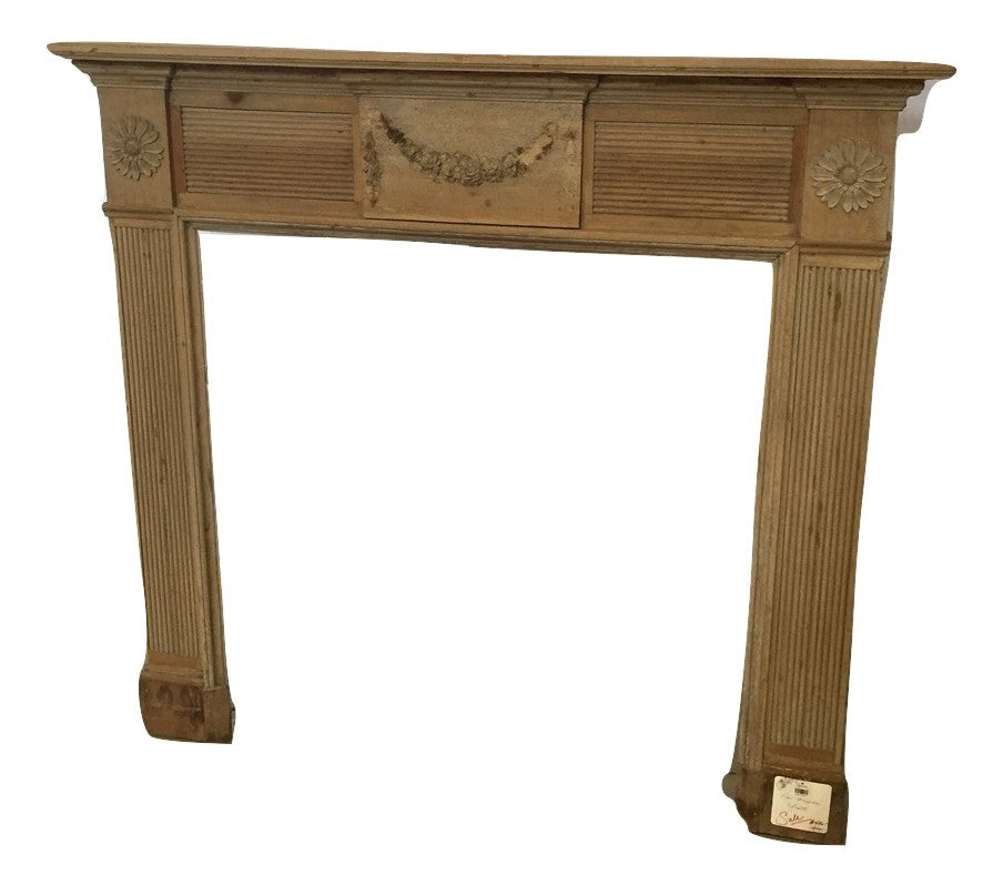 English Pine Mantel