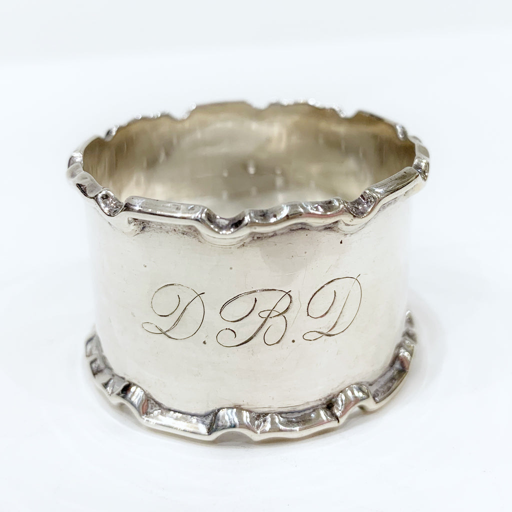 Estate Collection Sterling - Napkin Ring Monogram DBD