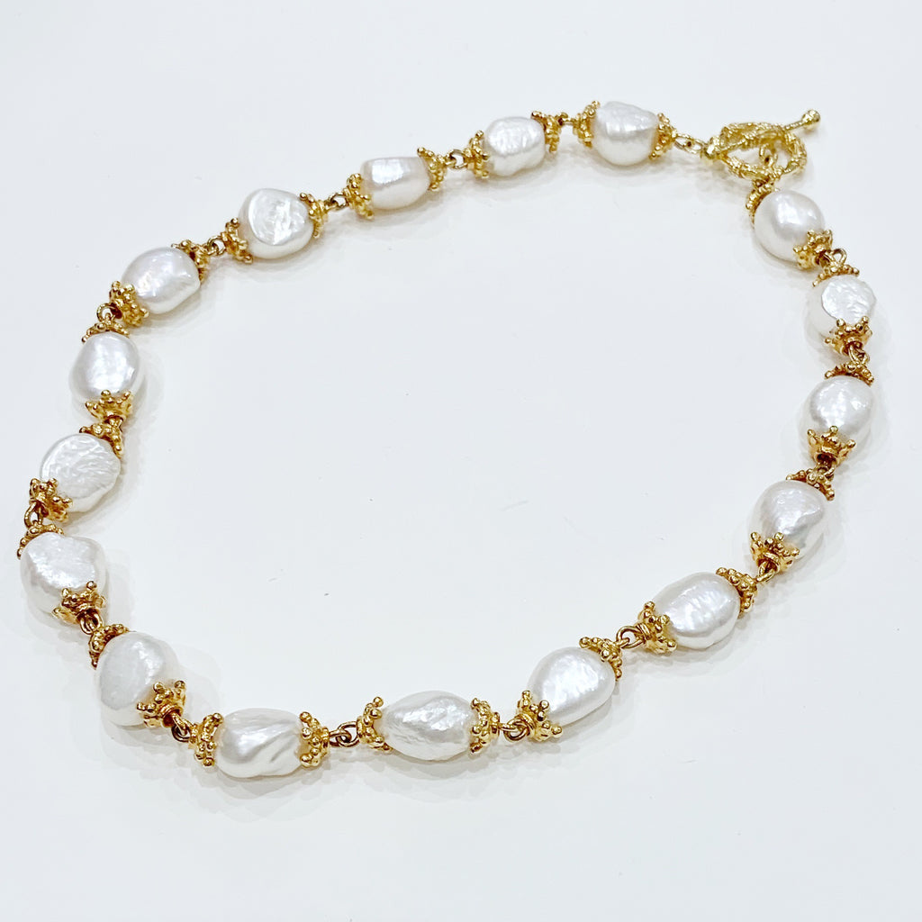 Estate Collection Necklace - 14K Yellow Gold and Pearl