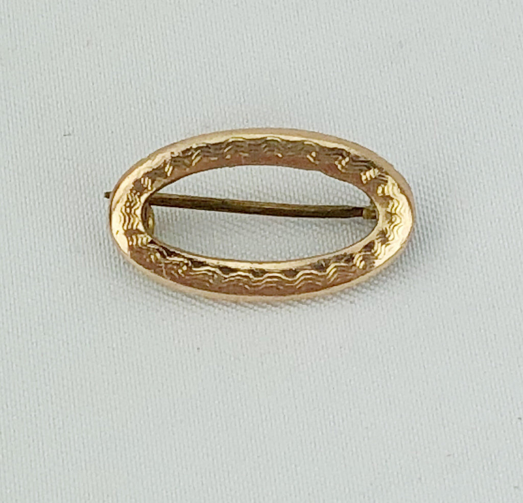 Estate Collection Baby Pin - Victorian Gold Filled Oval Shape