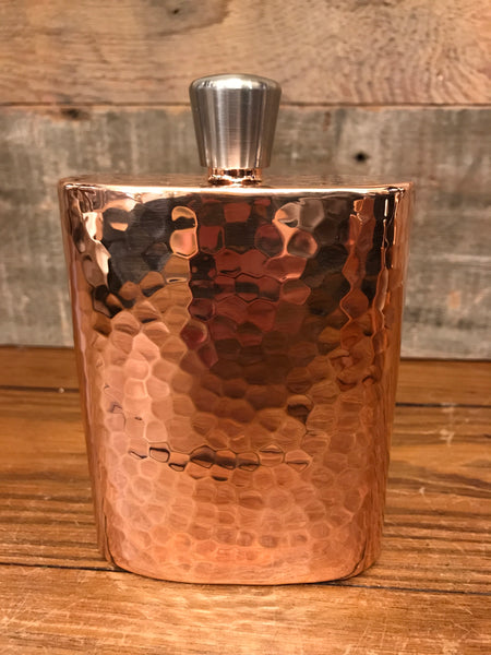 5 x 4 Hammered Copper Flask