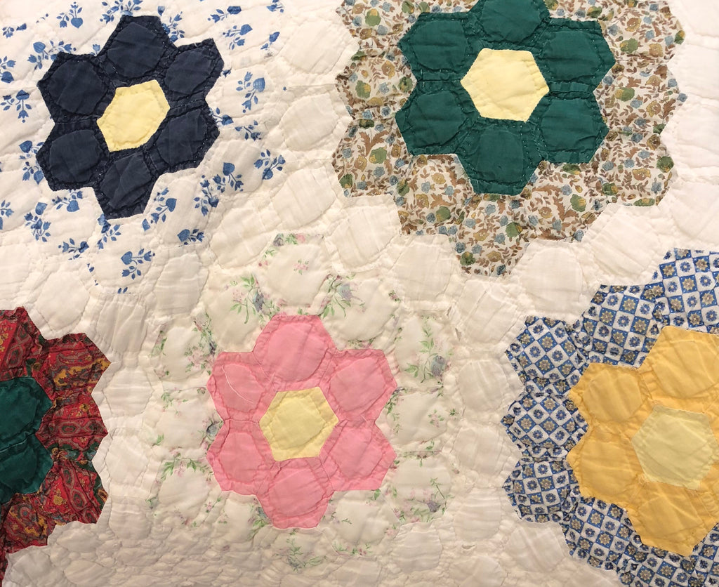 "Estate Collection Quilt -  Vintage Applique ""Garden Party"""
