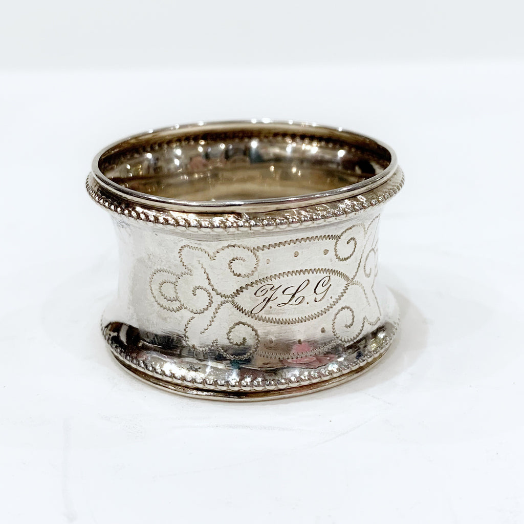 Estate Collection Sterling - Napkin Ring W/Monogram