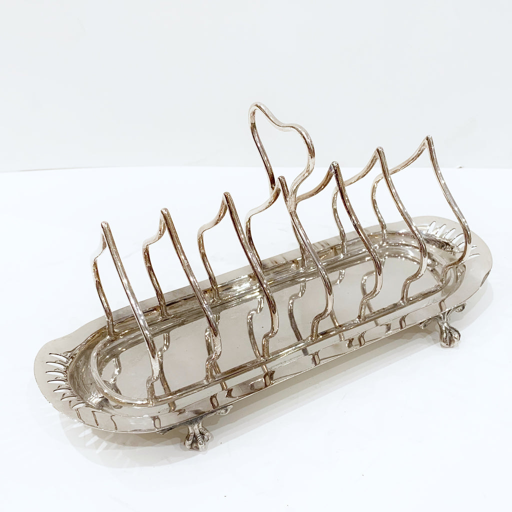 Estate Collection Silver Plate - Toast Rack Sheffield Silver Plate