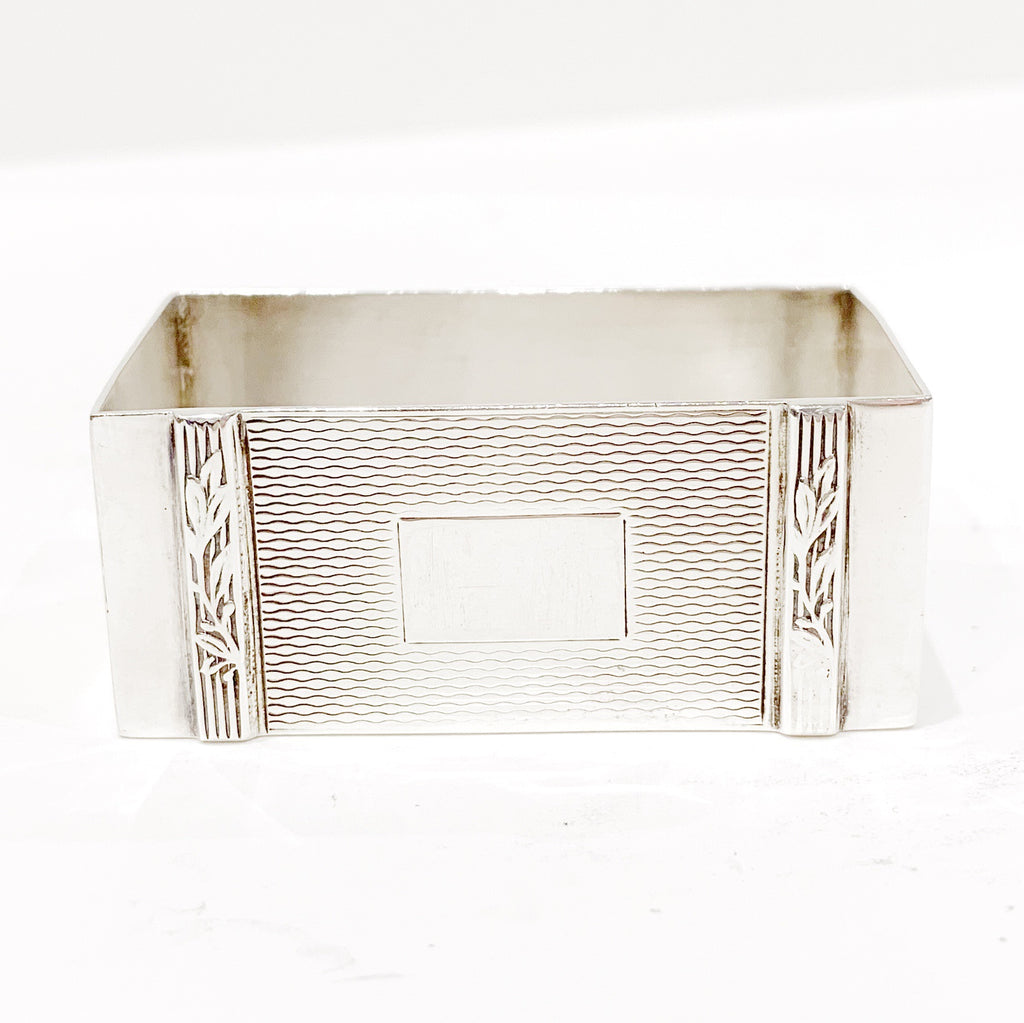 Estate Collection Silver Plate - Napkin Ring Harmon Brothers