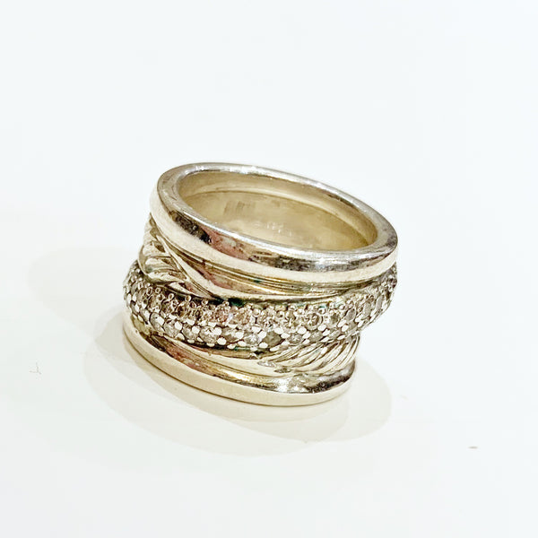 Estate Collection Ring - David Yurman Sterling Silver Crossover