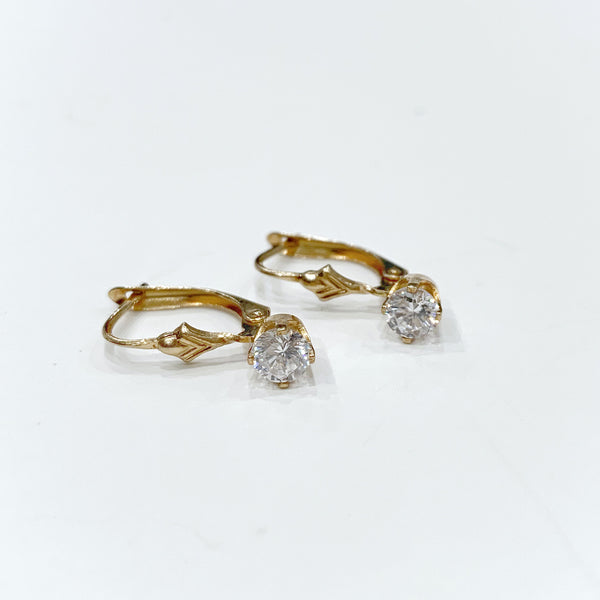Estate Collection Earrings - 14K Gold &CZ's