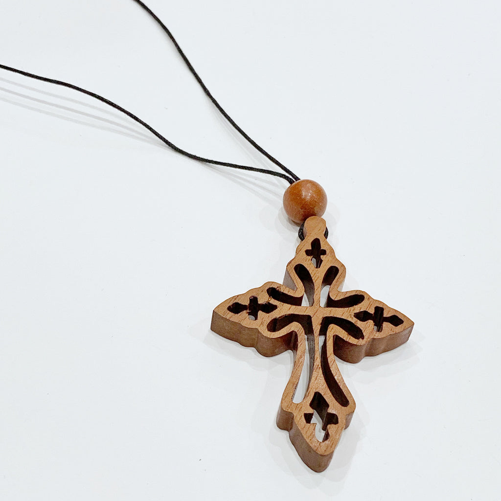 Estate Collection Necklace - Wooden Cross