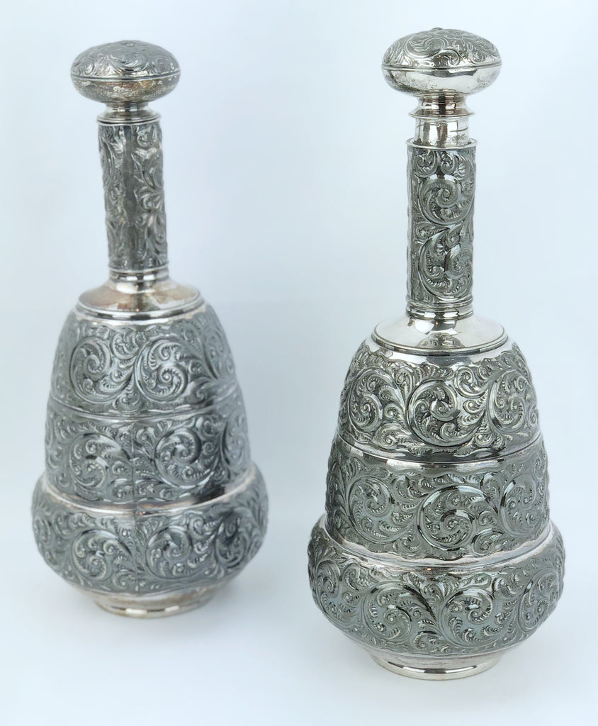 Estate Collection Pair of Quadruple Plate Decanters