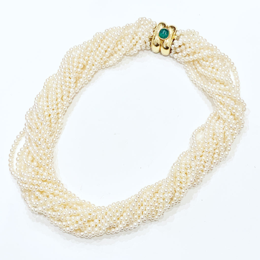 Estate Collection Necklace - 16 Strand 3MM Freshwater Pearls