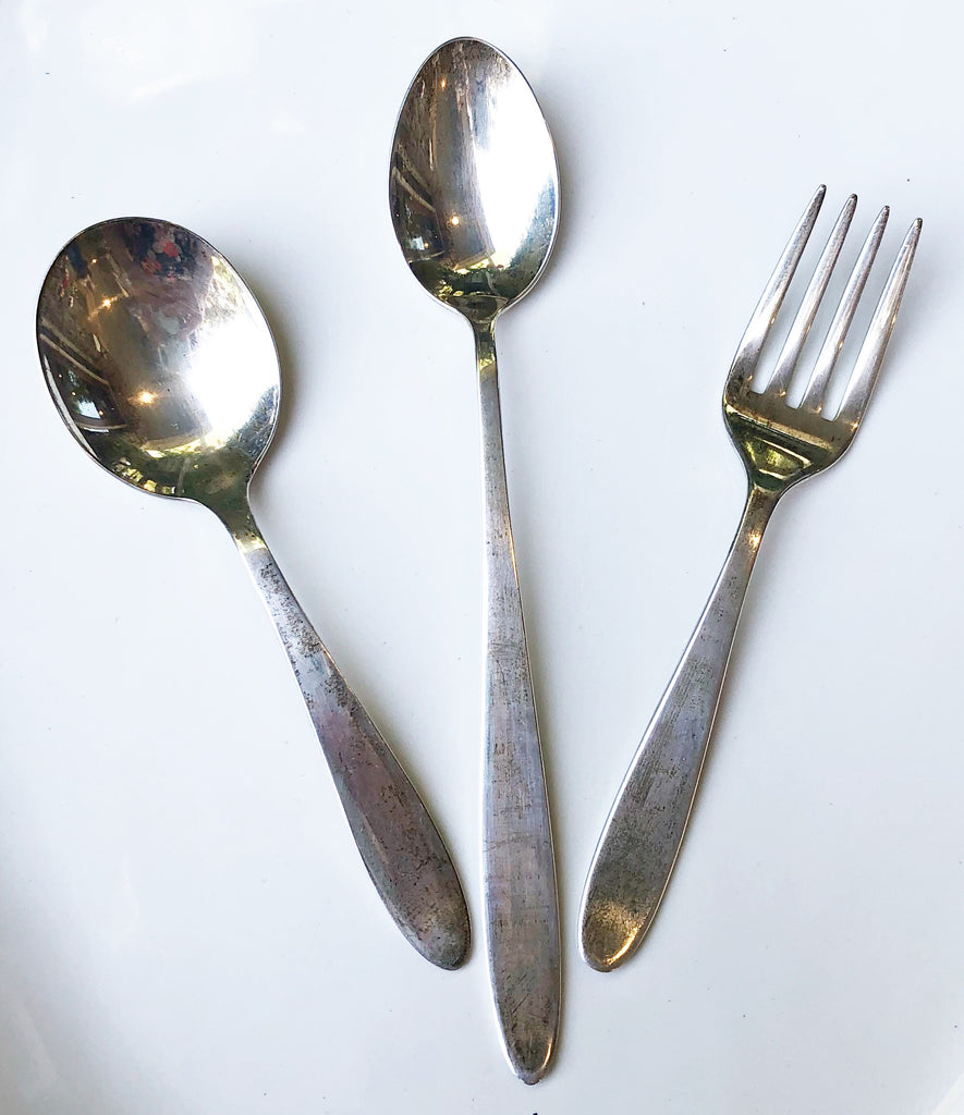 "Estate Collection Baby Sterling -  Fork & Spoons ""Lullaby"" Set"