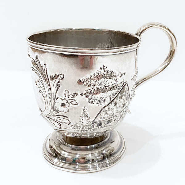 Estate Collection Silver - Mug Antique Late 19thC Footed