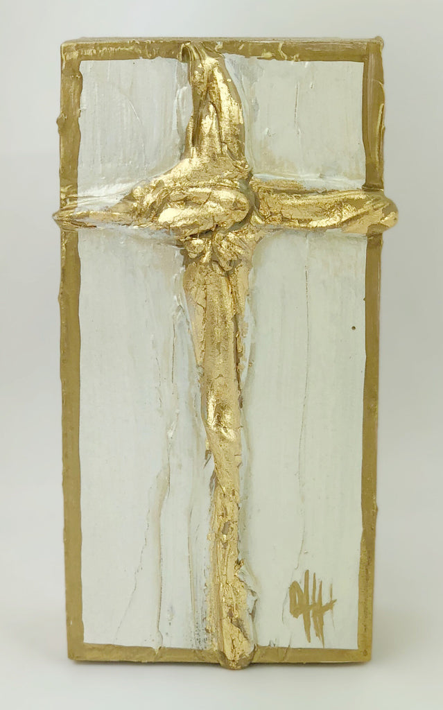 Debra Hewitt Designs - Cross Gold Leaf Small