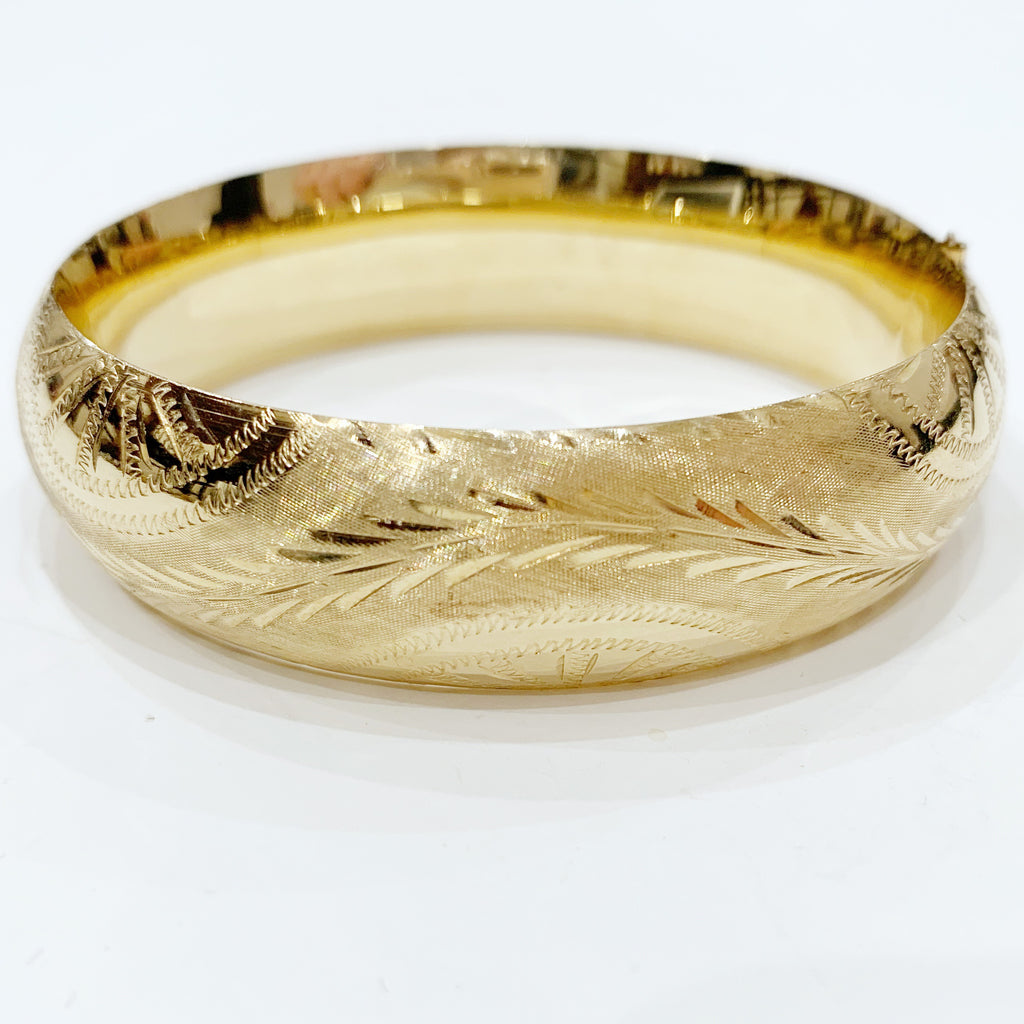 Estate Collection Bracelet - 14K Gold Bangle