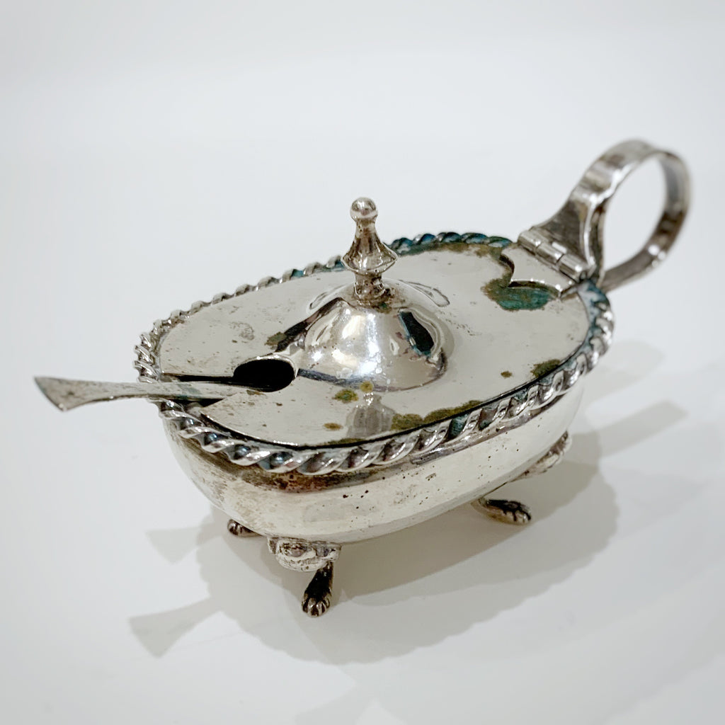 Estate Collection Silver - Salt Cellars Lidded Master w/Glass Insert