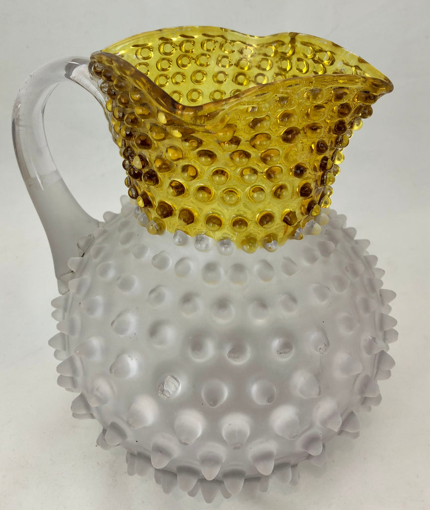 Estate Collection Hobnail Collection - Frosted Yellow/Amber Hobnail