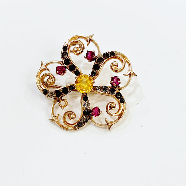 Estate Collection Brooch - Vintage 10K Yellow Gold Pinwheel