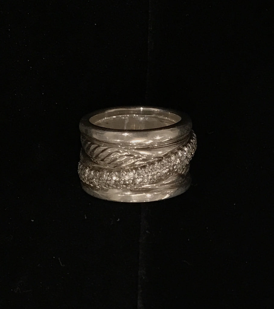 Estate Collection David Yurman Sterling Silver Crossover Ring