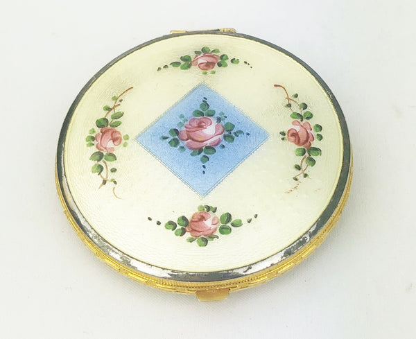 Estate Collection Guilloche Enamel Compact