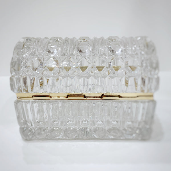 Estate Collection Jewelry Casket - Antique Crystal