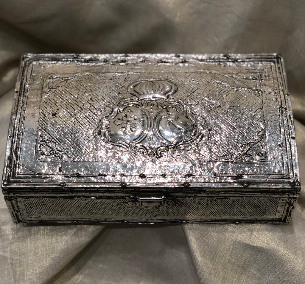 Estate Collection Antique Spanish Colonial Silver Box