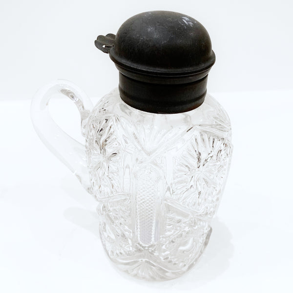 Estate Collection Crystal - Pitcher Syrup  Brilliant Cut Crystal