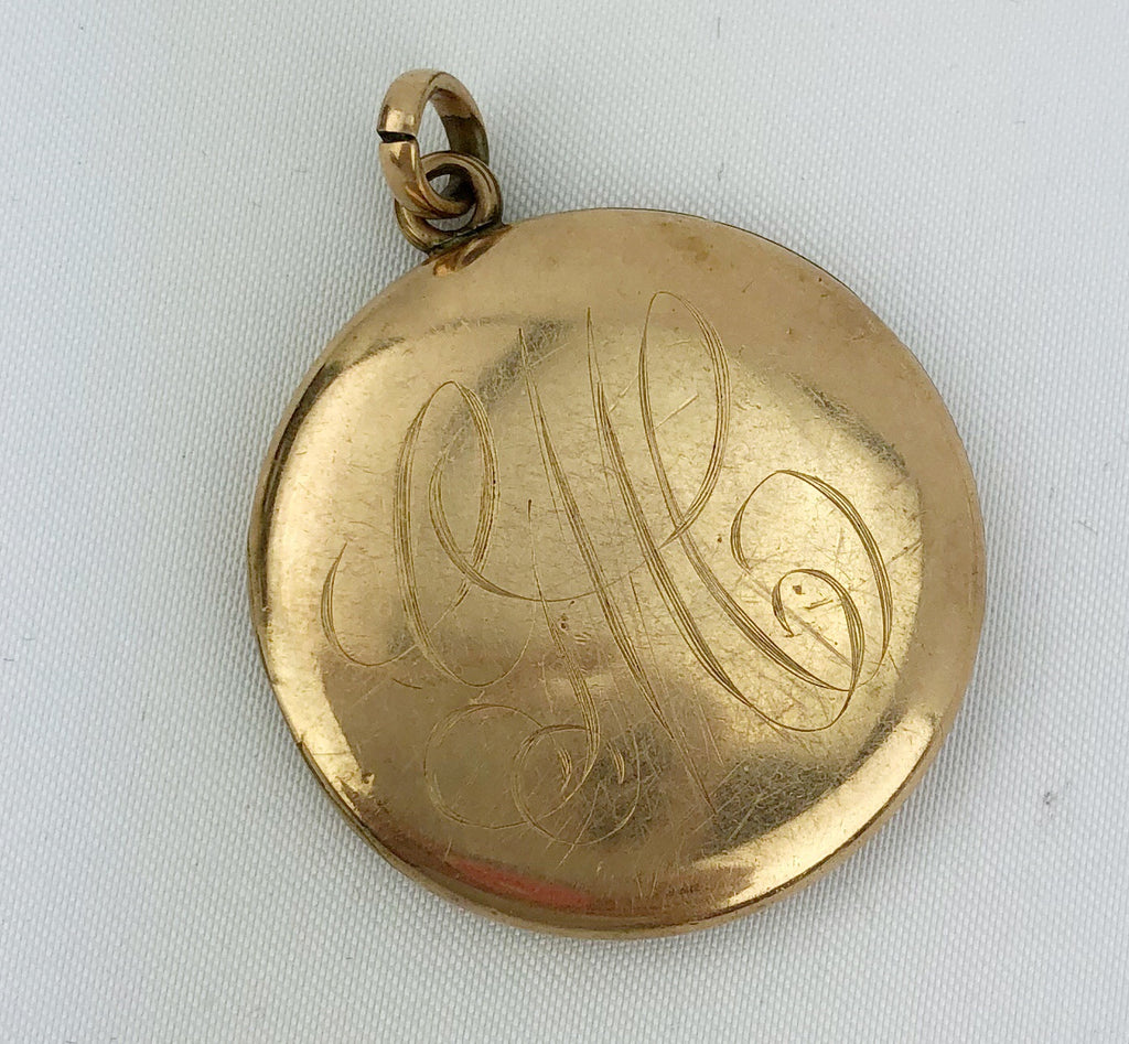Estate Collection Gold Locket w/Monogram