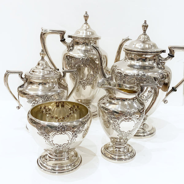 Estate Collection Sterling - Tea or Coffee Set Vintage Lyndale 5 pc