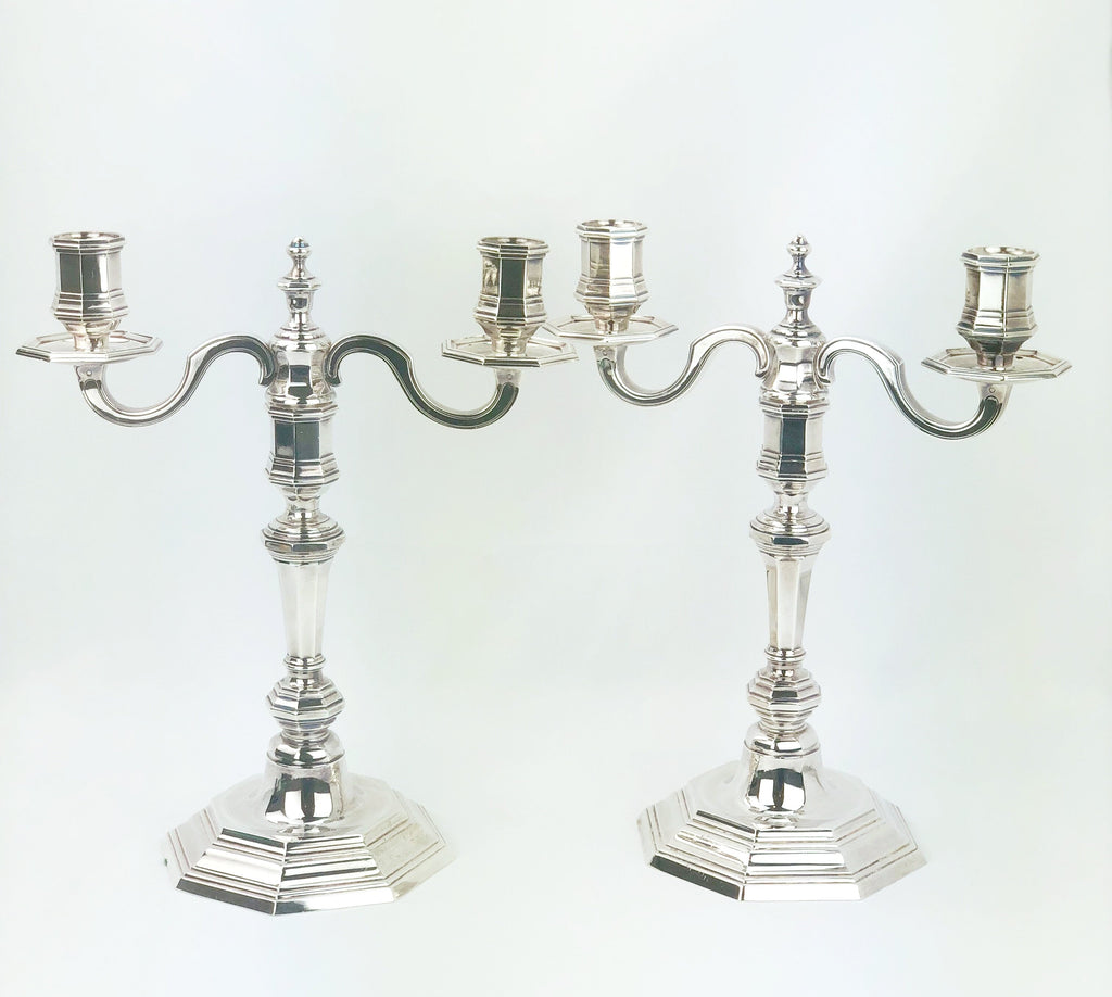 Antique silver plate Christofle candlesticks