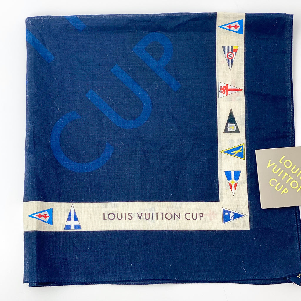 Estate Collection Scarf -  Vintage Louis Vuitton Nautical Cup