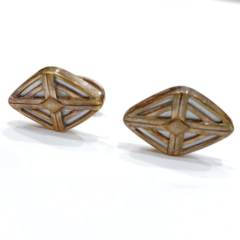 Estate Collection Cufflinks - English Rose Gold Plated
