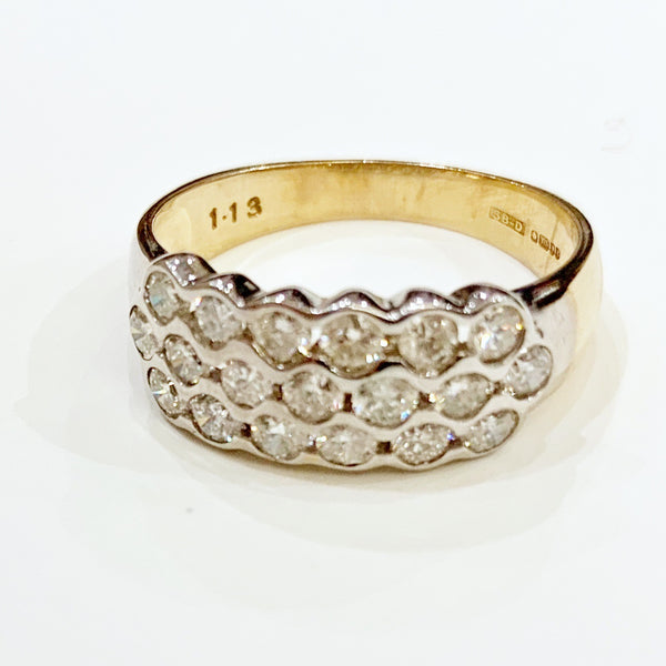 Estate Collection Ring - 9k Gold and Brilliant Cut Diamond