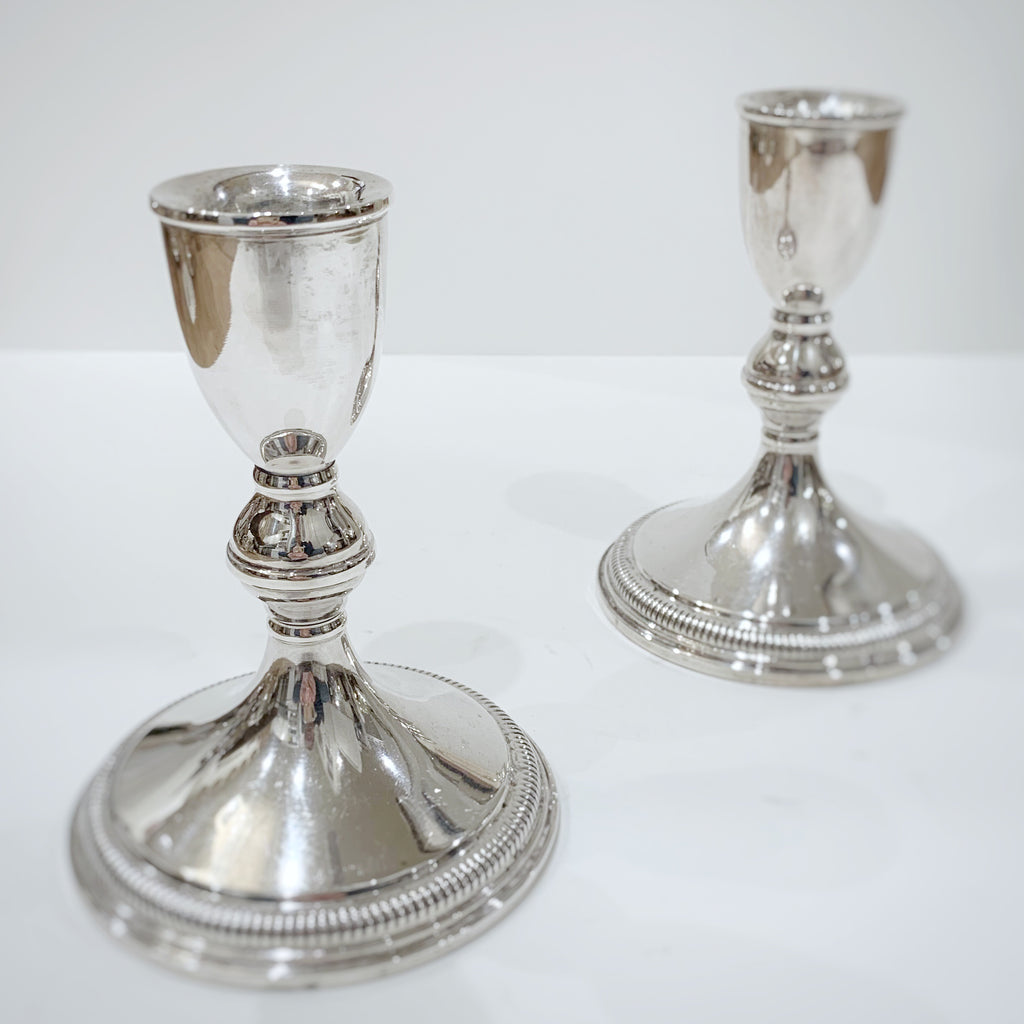 Estate Collection Sterling - Candlesticks Pair of Preisner Sterling