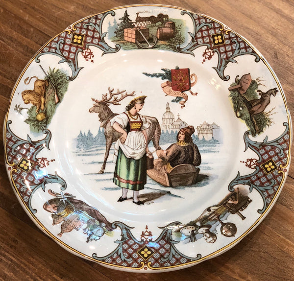 "Estate Collection China - Plate Russia - U et Cie Sarreguemines ""Nations"""