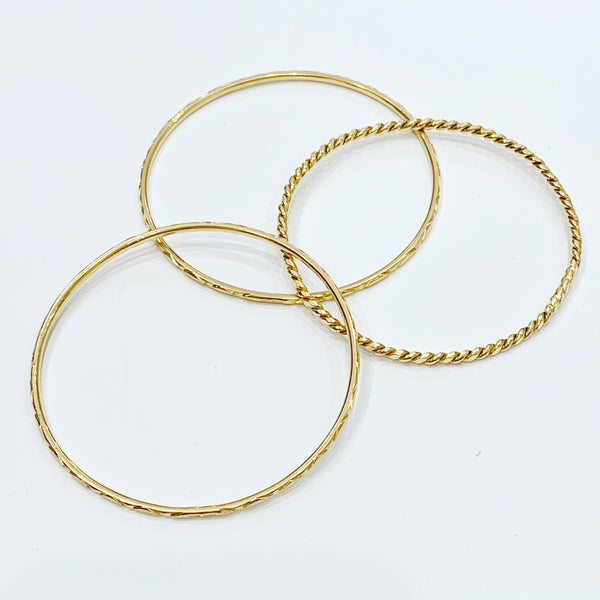 Estate Collection Bracelet - 18K Yellow Gold Bangles