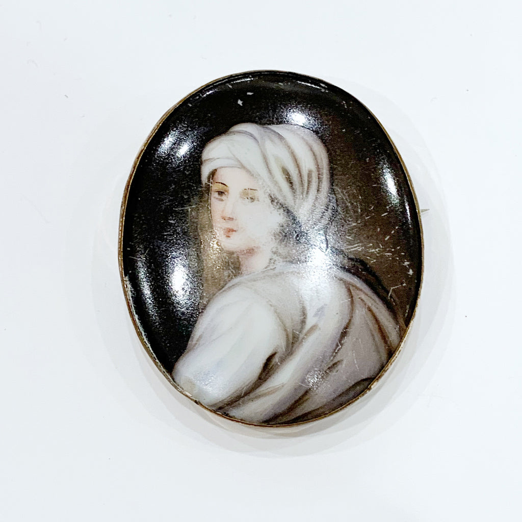 Estate Collection Brooch - Painted Woman