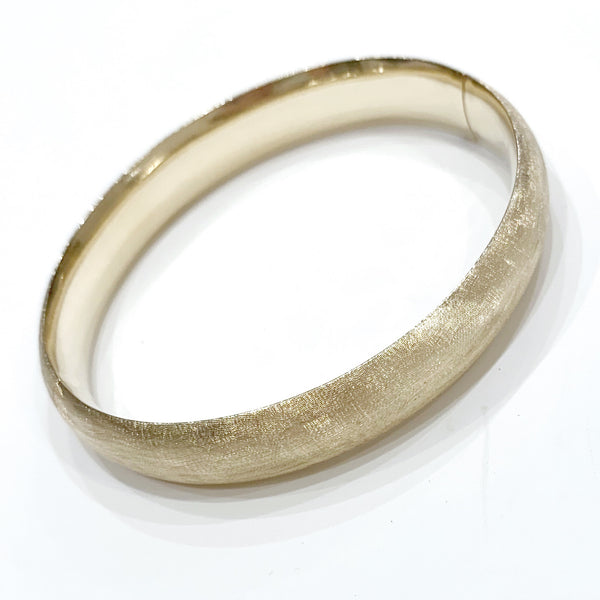 Estate Collection Bracelet - 14K Satin Finish Oval Bangle