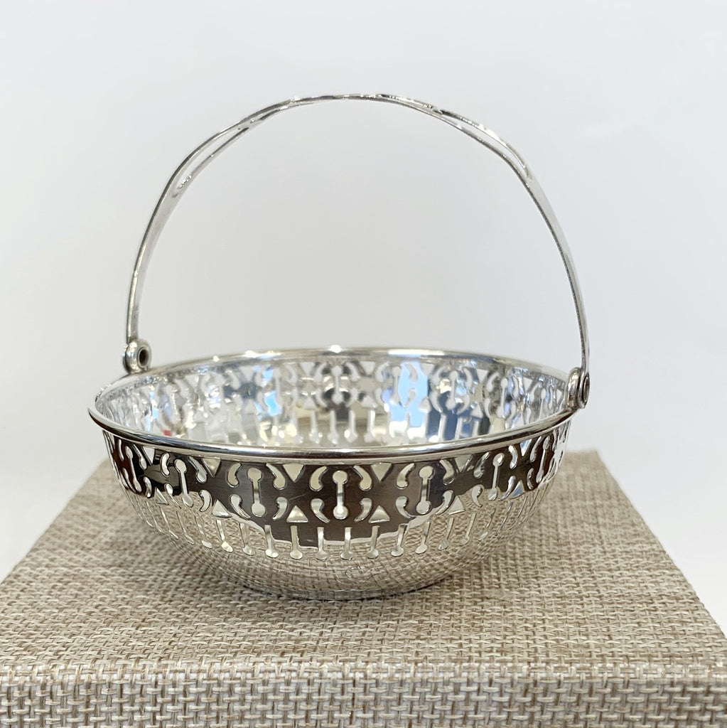 "Estate Collection Sterling Reticulated Baskets Mono ""S"""