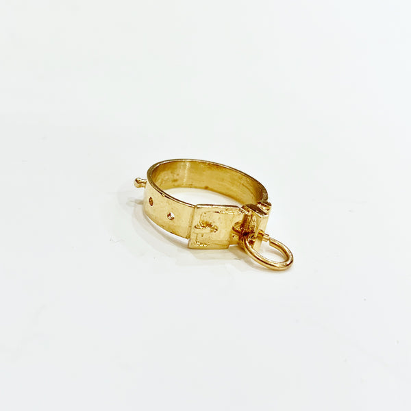 Estate Collection Charm - 14K Yellow Dog Collar