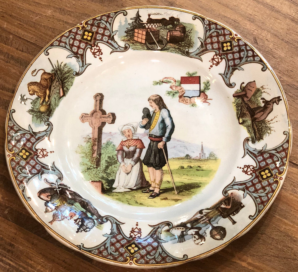 "Estate Collection China - Plate France - U et Cie Sarreguemines ""Nations"""