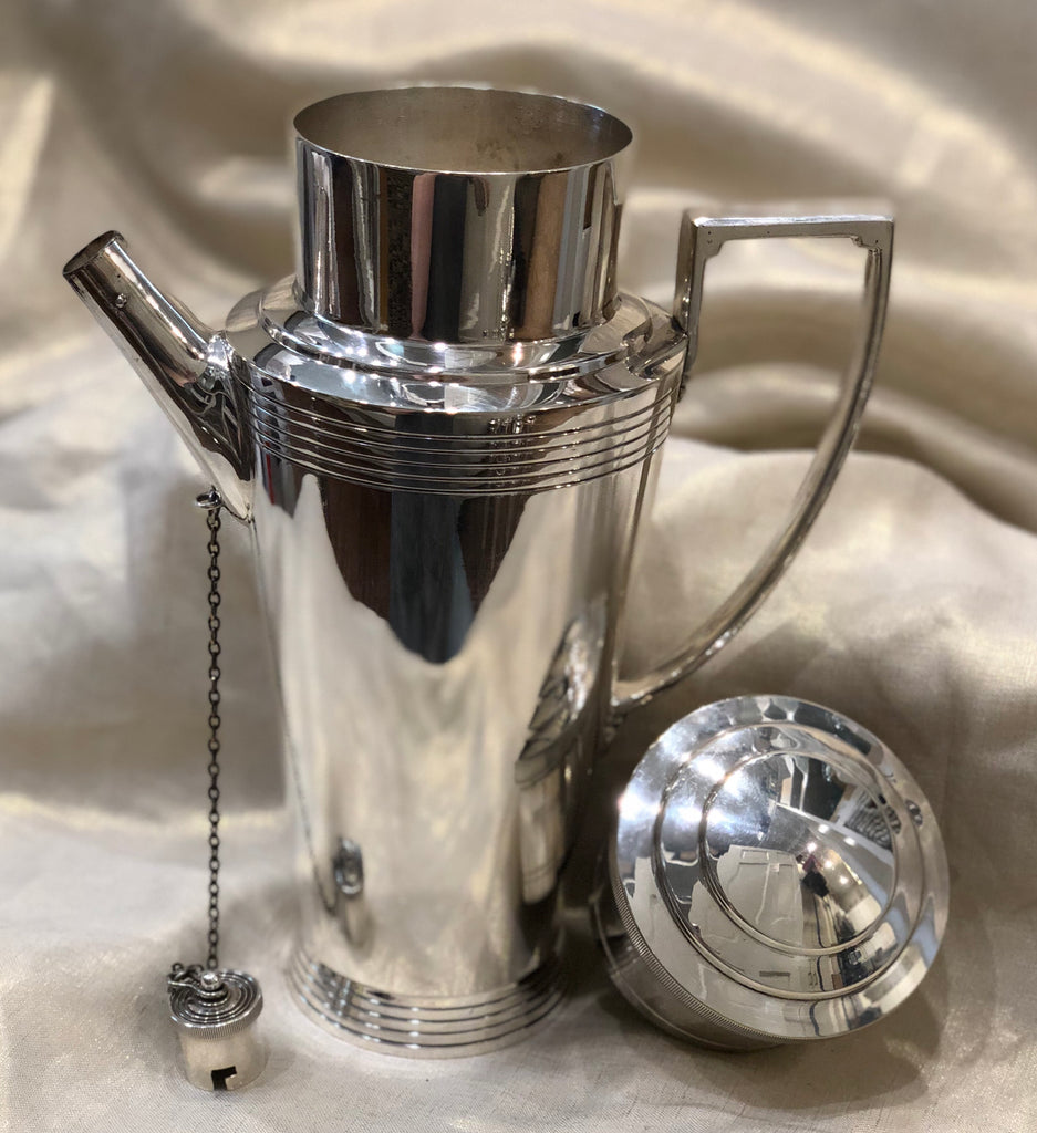 Estate Collection Keith Murray Mappin & Webb Sheffield Silver Plate Cocktail Shaker