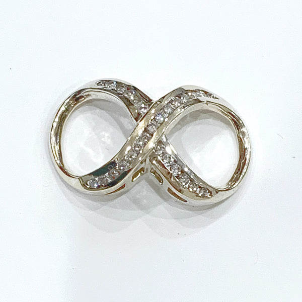 Estate Collection Enhancer - Infinity Shape 14K Yellow Gold W/Diamonds