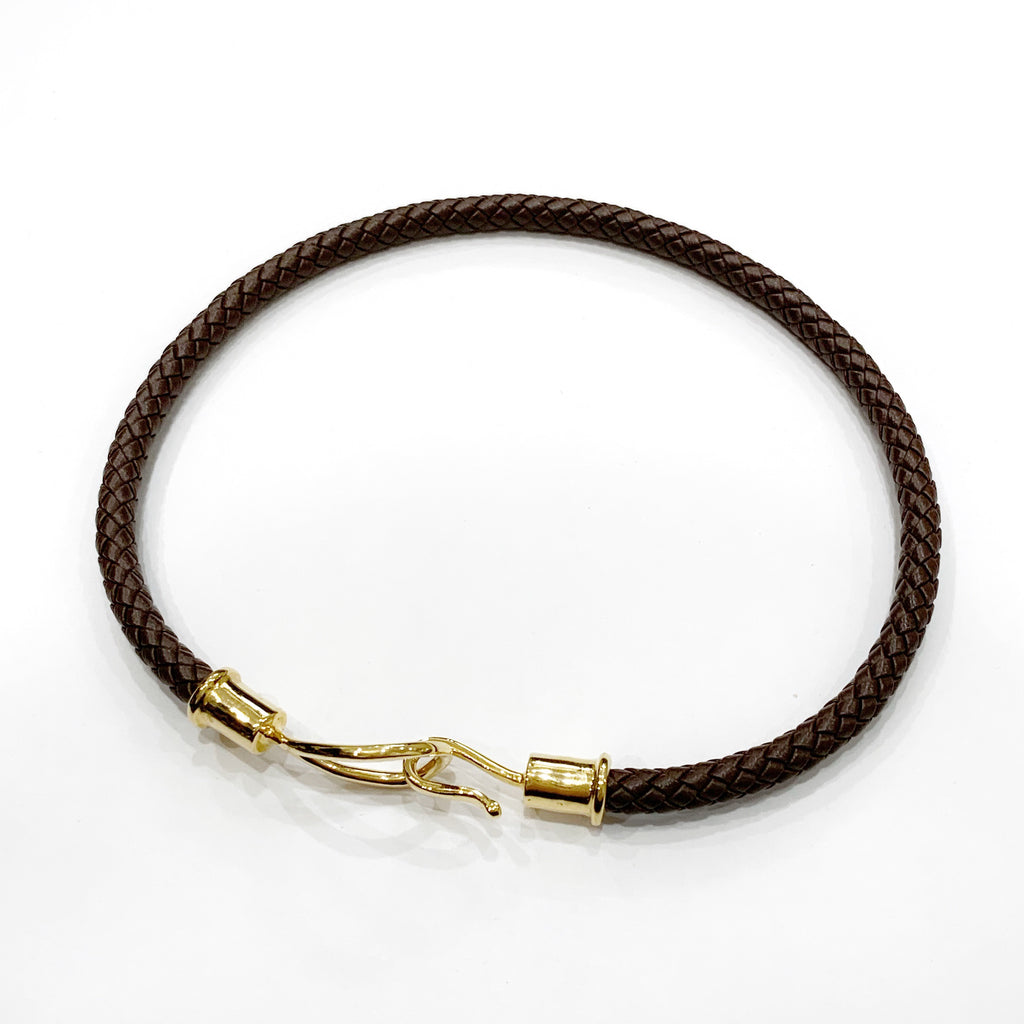 Laso Hook Double Wrap Woven Leather Bracelet