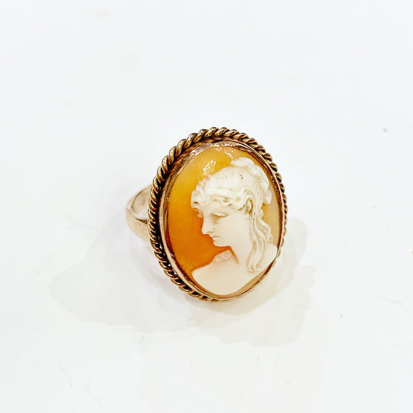 Estate Collection Ring - 10K Yellow Gold Antique Cameo