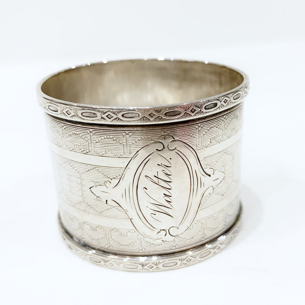 "Estate Collection Sterling - Napkin Ring Antique ""Walter"""