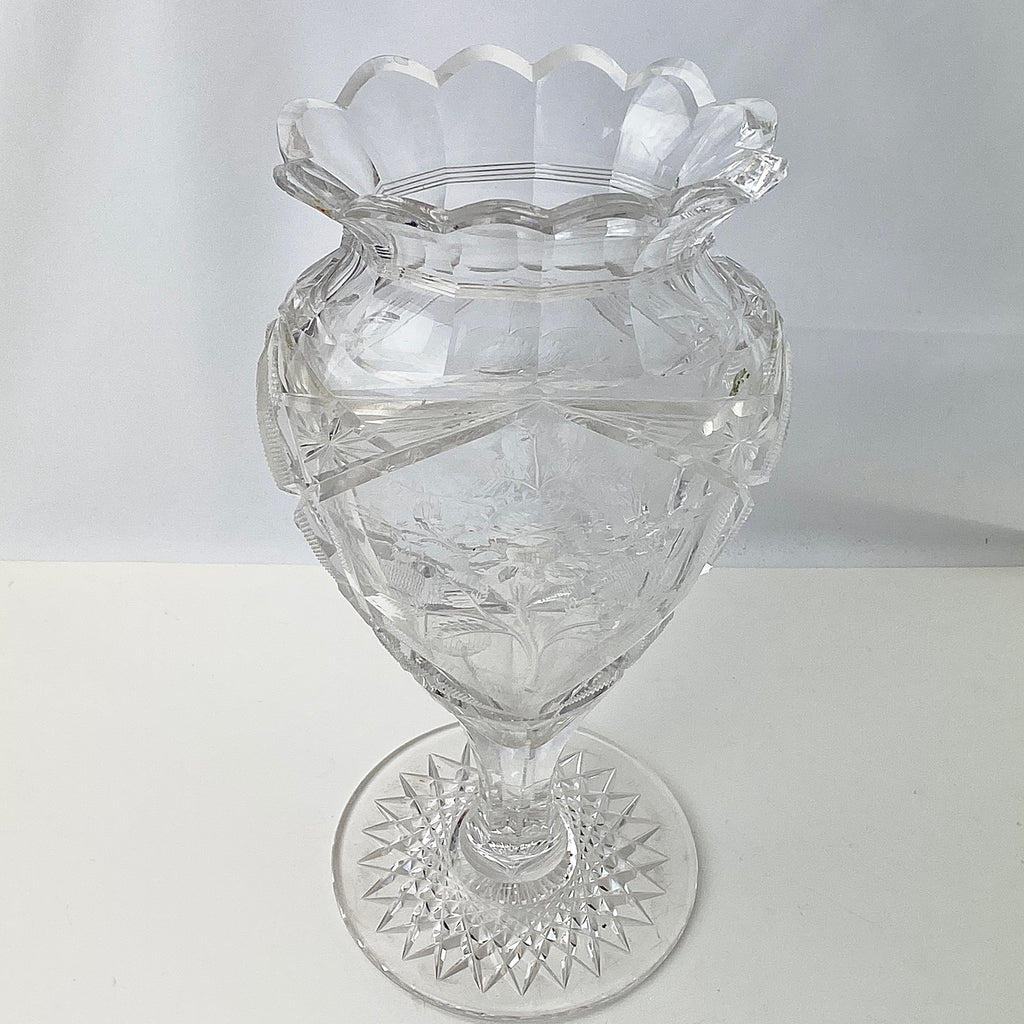 Estate Collection Antique Very Fine American Brilliant Period Cut Glass Vase