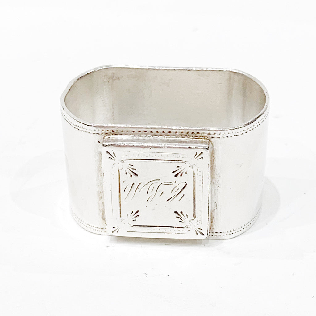 Estate Collection Pewter - Napkin Ring W/Monogram